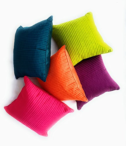 Decor Tribetm-Blend Silk, Set Of 5 Cushion Covers 16X16 Inches Or 40X40...