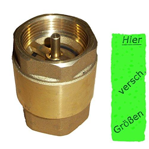 Rückschlagventil 1.25 Zoll ( 41,7mm )schwere Ausführung ---- mit Messingklappe für Brunnen Saugschlauch Hauswasserwerk Schwengelpumpe Gartenpumpe im Garten ------Qualität vom Fachmann !
