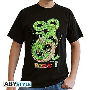 ABYstyle - Camiseta de Manga Corta para Hombre, diseño de dragón, Color Negro (XS)
