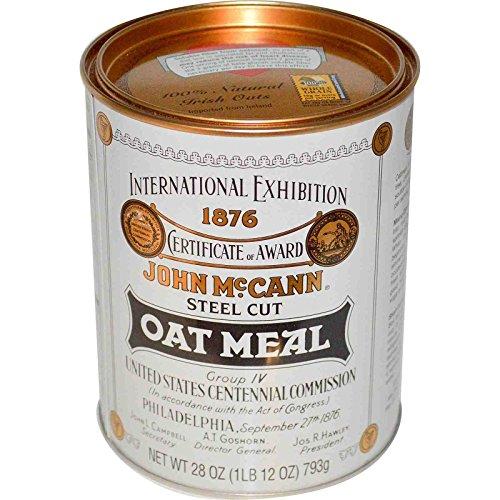 McCann's Irish Oatmeal, Steel Cut Oat Meal, 28 oz (793 g) (1 unit)