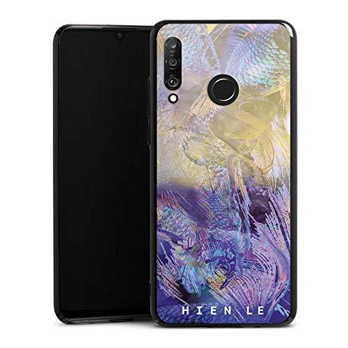 Hülle kompatibel mit Huawei P30 Lite Handyhülle Case Hien Le Goldfisch Design -