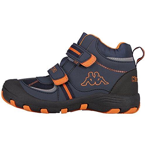 Kappa Unisex-Kinder Perry MID TEX Kids Klassische Stiefel, Blau (Navy/Orange 6744), 34 EU