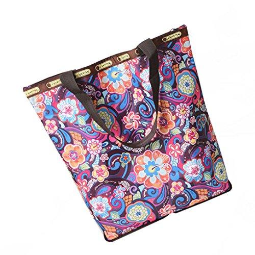 BZLine® Frauen Leinwand Große Kapazitäts-Segeltuch-Strand-Tasche Handtasche A