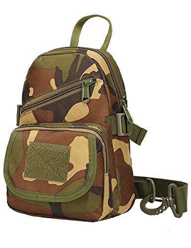 Menschwear Schleuder Tasche Chest Pack,Multiple Storage Zweck Umhängetasche Tragen Styles Tarnung 3 Tarnung 2