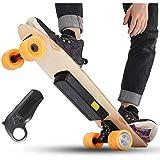 GNB Skateboard Elettrico, Intelligente Telecomando Longboard Bambini elettronico 24V 18650 2.2Ah Batteria al Litio 250W Motore Alto Potere Eccellente, Crociera Gamma di più di 10 km