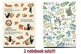 [2 Notizbücher] Movic Kiki's Kiki's kleiner Lieferservice JIJI& Mein Nachbar Totoro B5 Notizbuch Brotmuster & Buntes Blatt aus Japan