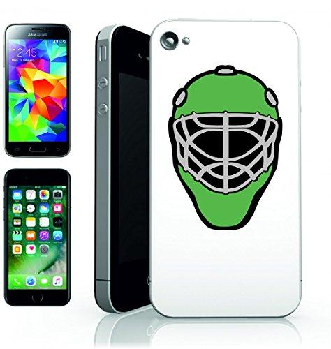 Smartphone Case Casco di hockey su ghiaccio della maschera del Portiere della copertura della protezione del Campo per Apple Iphone 4/4S, 5/5S, 5C, 6/6S, 7& Samsung Galaxy S4, S5, S6, S6Edge, S7,