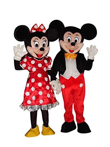 Mickey Maus und Minnie Maus Halloween Erwachsene Maskottchen -