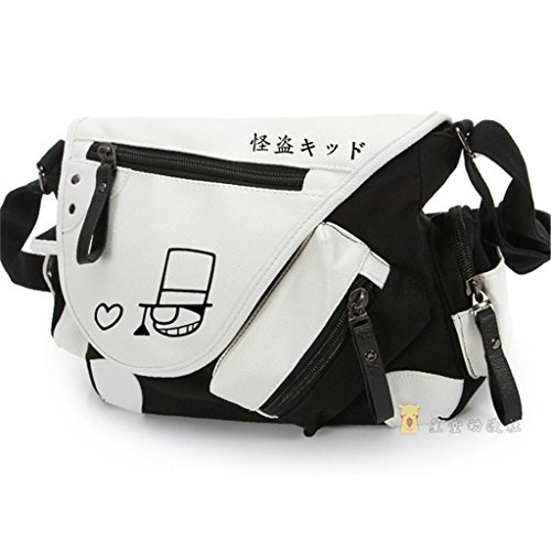 yoyoshome Japanische Anime Cosplay Rucksack Umhängetasche Messenger Bag Umhängetasche schwarz Detective Conan (Laptop-tasche Sword Art Online)