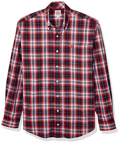 Cinch Herren Classic Fit Shirt Hemd, Haute Red Plaid, Mittel -