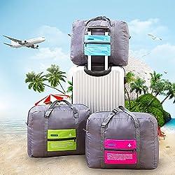 Getko Foldable waterproof Travel Bag Unisex Luggage Travel Duffle Large Capacity Bag Women Folding Handbags