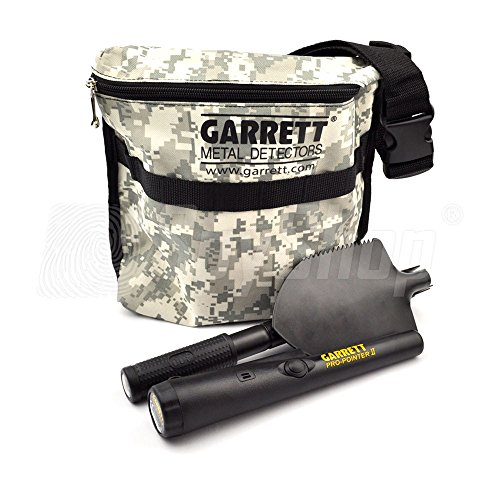 Treasure-Hunter-Kit-Garrett-Pro-Pointer-II-with-shovel-and-treasure-bag