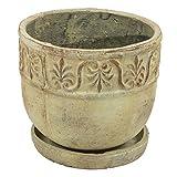 Keramik Pflanzschale Übertopf Pflanztopf Untersetzer rustikal Dekoschale 25 cm
