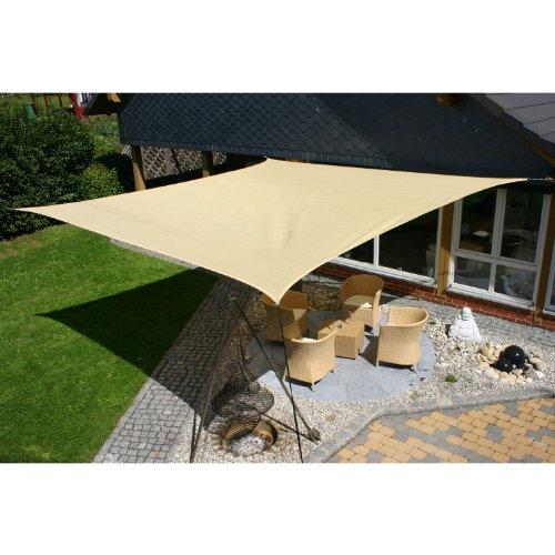 Eduplay Sonnensegel, 5x5m, Quadrat, beige Markise Für Schaukel