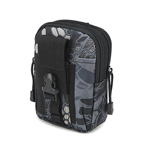 Militare molle Tactical waist bag in sacchetto del telefono Outdoor Wilderness camping hiking bag, Camouflage#1 Black#2
