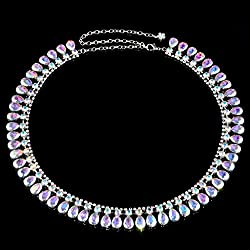 Imported Fashion Colored Rhinestone Thin Waist Chain Belts For Women