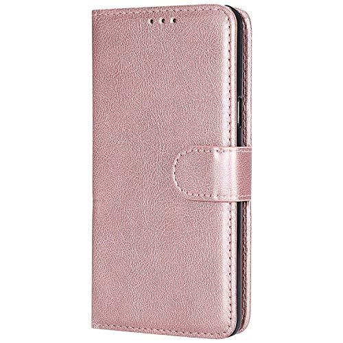 Cover Galaxy A5 2016, Bear Village® Custodia Premium Flip Custodia per Samsung Galaxy A5 2016, Custodia con Porta Carte e Chiusura Magnetica, Oro Rosa