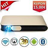 WOWOTO DLP Mini Beamer 3D Full HD LED Projektor 3500 Lumens...