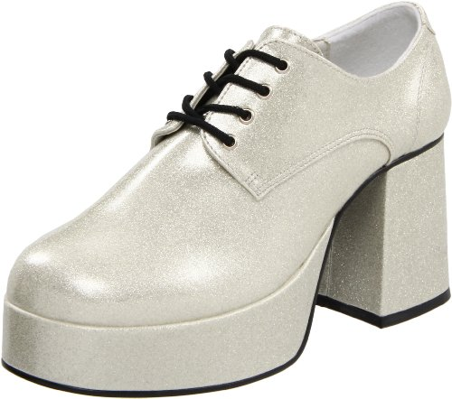 PleaserJazz02/b - Brogue uomo Pearlized Slv Gltr