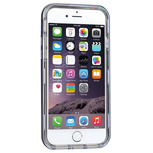 Custodia iPhone 7 Plus (5,5 pollice), HB-Int 3 in 1 Ultra Slim Custodia Shell Custodia Morbida Case Flessibile TPU Gel Bumper Stampato Design PC+ Silicone Ibrido Impatto Caso Ultra Sottile Leggera Cop Blu