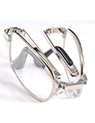 THG Tama?o de bolsillo plegable plegable Anti Fatiga gafas de lectura Gafas Clear Vision Lupa 2.50 + el¨¢stico de la correa estuche protector pa?o de limpieza