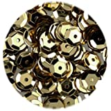 Dorado 6 mm semicírculo con diseño de lentejuelas/pinflair (4000 piezas)