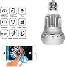 M3M 360 Degree Wifi Camera Bulb Light Panorámico 1080P HD Wireless IP Webcam Sensor De Movimiento