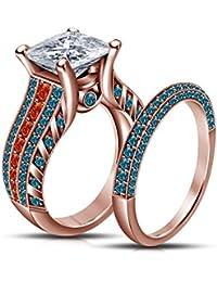 La moda de la boda de la princesa Mérida Vorra/compromiso anillo nupcial juego de