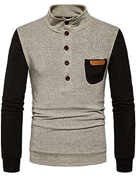 Maglione moda per il tempo libero degli uomini in una tasca singola Sau suite svaghi di testa, una coppia di kaki ,S