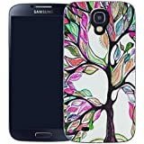 Mobile Case Mate Samsung Galaxy S4 mini i9190 clip on Silicone Coque couverture case cover Pare-chocs + STYLET - purple bonsai pattern (SILICON)