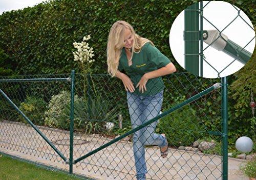 *Maschendrahtzaun Komplettset Premiumqualität – 25 m / 175 cm hoch Zaunset zaunpaket kompletter Zaun Drahtzaun extra stabil grün*