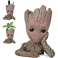 Pawaca - Maceta para plantas del personaje de dibujos de acción Groot, con agujero, de Guardianes de la Galaxia, ideal como regalo para niños.