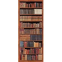 Plage Biblioteca Antigua Trampantojo de Puerta, Vinilo, Multicolor, 83x204 cm