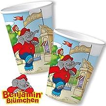 8vasos * Benjamin Blümchen * para Fiesta de cumpleaños y niños DH-Konzept//töröööö//elefante vasos de papel Fiesta Taza Infantil Party Set