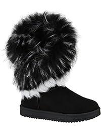 652bae052c Stiefelparadies Damen Stiefeletten Winter Boots Warm Gefüttert Flandell