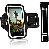 Brazalete Deportivo iPhone 6/6s/5 & Samsung Galaxy S7/S6/S5 de Neopreno Para Running jogging Turismo, Ciclismo, funda caso de ejercicio para (Brazos X-Pequeños 23cm - X-Grandes de 53cm) (Samsung Galaxy S7)