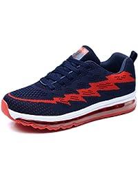 save off 297ff a4a07 Uomo Scarpe da Ginnastica Donna Sneakers Basse da Corsa Fitness Sportivi  Lacci Knit Air Cushion Shoes