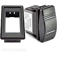 wellenshop 12V LED Wippschalter on-Off-on 25A mit Montagerahmen