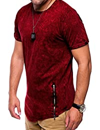 MT Styles Oversize style ziper T-Shirt homme C-9063