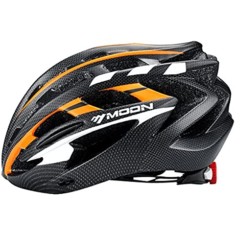 Moon Special Adult Sport Cycling Helmet In-Mold Tech,Mountain MTB&Road Dual Purpose with Removable Visor,Lightweight Design,EPS Carbon Fiber?Unisex Women Men?[8.1 oz][31