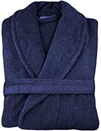 MENS LADIES UNISEX EGYPTIAN COTTON 500 GSM TERRY TOWELLING SHAWL COLLAR HOODED  BATHROBE 2fb1ff38a