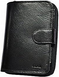ca2ff73c8b41 VANITY - Portefeuille Porte Carte Crédit Pièce D identité Monnaie à Bouton  Pression Femme En Cuir De Vachette…