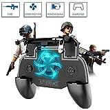 Newseego Contrôleur de Jeu Mobile, [Version Mise à Jour] 4-en-1 Cooling Pad Power Bank Gamepad Shoot et déclencheur de visée Sensible L1R1 pour Android et iOS pour Knives Out(4000mAh)