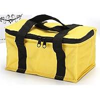 Preisvergleich für Yudanwin Leinwand-Lunch-Tasche Einfarbige Nette quadratische Kühltasche Lunch Bag (gelb)