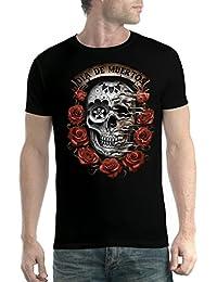 avocadoWEAR Dia De Muertos Roses Floral Crâne Homme T-Shirt XS-5XL Nouveauté fe66d9e5023f