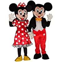 Disfraz de Mickey Mouse y Minnie Mouse, para Halloween, para Adultos, Disfraz, Multicolor, Large