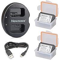 Newmowa NP-FW50 Batería de repuesto (2-Pack) y Kit de Cargador Doble para Micro USB portátil para Sony FW50 and Sony Alpha a3000, Alpha a5000, Alpha a6000,a6300,a6500,Alpha 7, a7, Alpha 7R, a7R, Alpha 7S, a7S, NEX-3, NEX-3N, NEX-5, NEX-5N, NEX-5R, NEX-5T, NEX-6, NEX-7, NEX-C3, NEX-F3, SLT-A33, SLT-A35, SLT-A37, SLT-A55V, Cyber-shot DSC-RX10, Cyber-shot RX10 IV