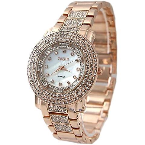 ukfw907a nuovo quadrante bianco oro rosa tono oro rosa fascia Watchcase Fashion Watch