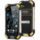 "Blackview BV6000S - Smartphone libre 4G Lte Android 6 (Pantalla 4.7"", 16GB ROM, 2GB RAM Cámara 8.0 Mp, Quad Core 1.3GHz, NFC, Dual SIM, Batería de 4200mAh, Impermeable IP68, a prueba de polvo), Amarillo"