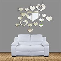 ‏‪Home 3D Removable Heart Art Decor Wall Stickers Living Room Decoration‬‏